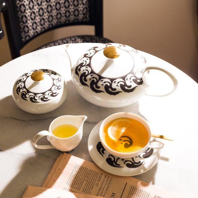"""""""Vogelkolonie"""" Tea Pot Gold by Koloman Moser & Ena Rottenberg For Sale - Image 4 of 5"""
