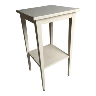 White Painted Wood Side Table