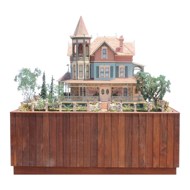 Massive 7 Foot With Case Doll House From the Heritage Museum l.a on S. Calif. Architecture For Sale