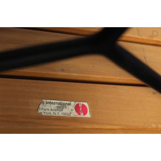 Wood Harry Bertoia for Knoll Slat Bench For Sale - Image 7 of 7