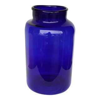 European Cobalt Pickling Jar For Sale