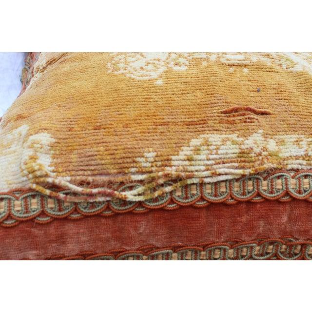 Italian Burnt Orange Silk Tassel Pillow For Sale - Image 3 of 7
