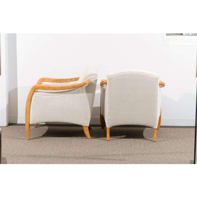 Jaw-Dropping Restored Pair of Modern Club Chairs For Sale - Image 10 of 11
