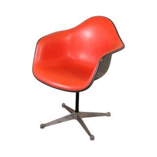 Herman Miller Eames Orange Padded Fiberglass Shell Chair For Sale