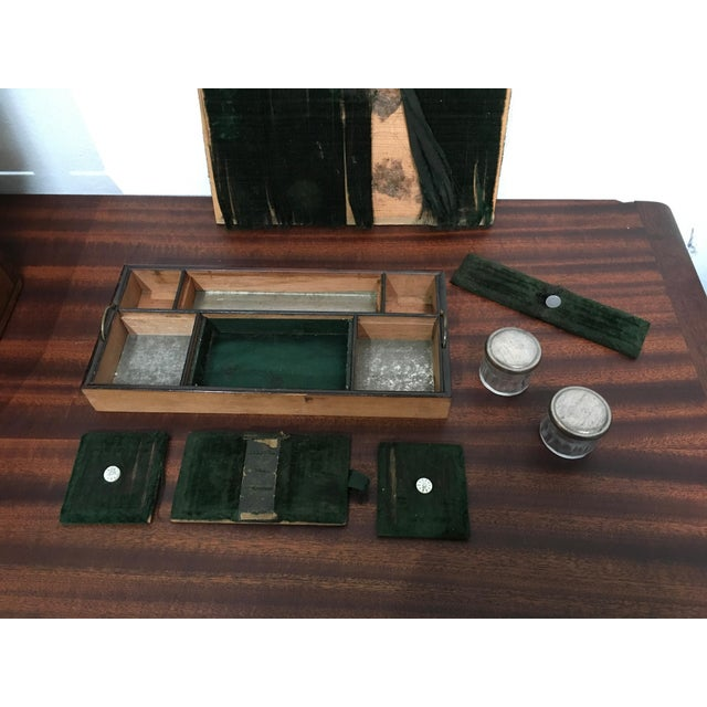 Victorian Gentleman's Traveling Dressing Table Set For Sale - Image 9 of 10