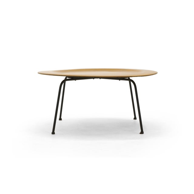 Herman Miller Early Second Generation Eames CTM Coffee Table Metal Legs, Expertly Restored For Sale - Image 4 of 9