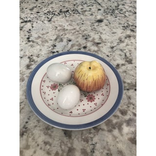 Italian Tiffany Estes Eggs, Apple, & Plate Figurines- 4 Pieces Preview