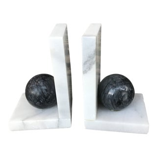 1960s Vintage Italian Marble Bookends - A Pair For Sale