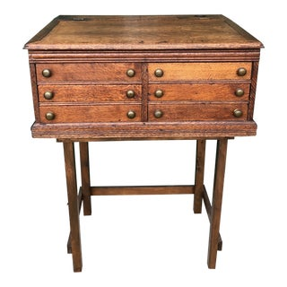 1880s Traditional Spool Oak Cabinet For Sale