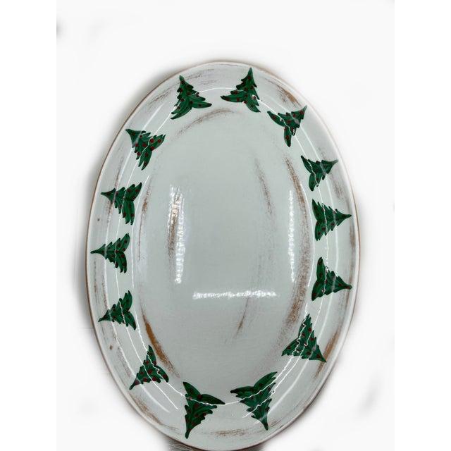 Ceramic Marco & Cristina Italian Christmas Platter For Sale - Image 7 of 7