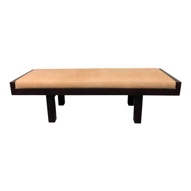 Custom Modern Coach Leather Top Bench For Sale