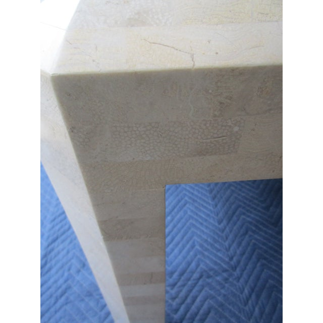 Brass Maitland Smith Tessellated Stone and Brass Side Tables - a Pair For Sale - Image 7 of 12