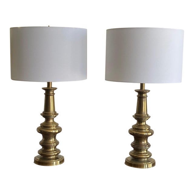 Pair of Stiffel Brass Lamps For Sale