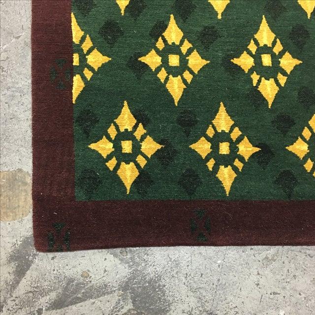 """Hand Woven Tibetan Oriental Runner - 2'6"""" X 8'11"""" - Image 4 of 5"""