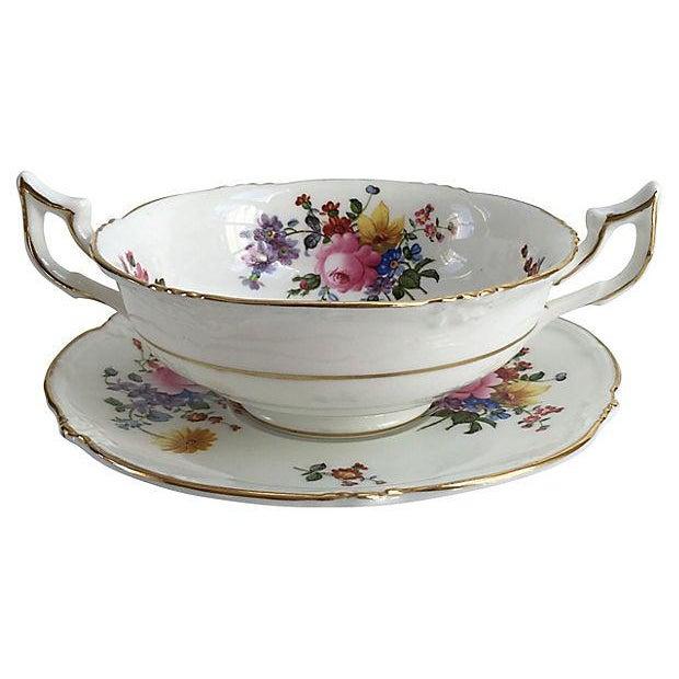 Cauldon English Porcelain Cauldon Soup Bowl Set - Set of 10 For Sale - Image 4 of 7