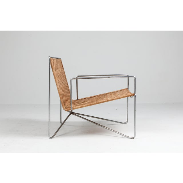Rattan and Steel Armchairs Gelderland, 1964 - a Pair For Sale - Image 9 of 13