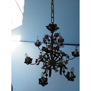 Italian Gilt Metal and Rose Chandelier Preview