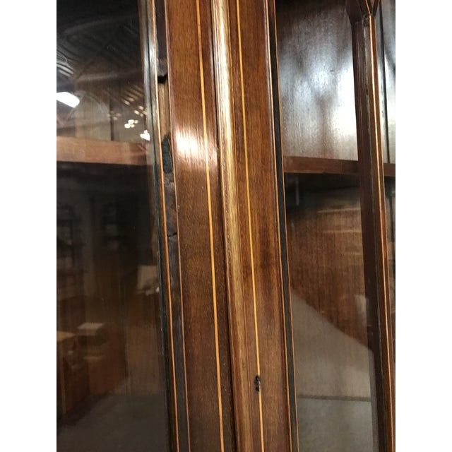 Mid 20th Century 20th Century American Classical Inlaid Corner Cupboard For Sale - Image 5 of 6