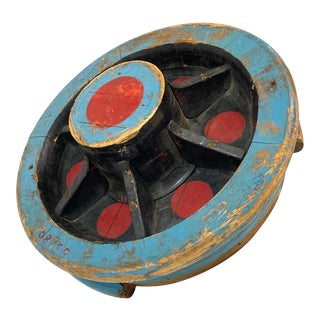 Mid 20th Century Machine Age Painted Wood Foundry Mold Art Piece Sculpture For Sale