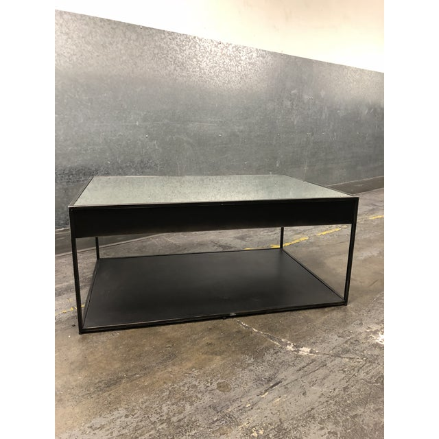 Brown Restoration Hardware Gramercy Narrow Coffee Table With Drawers For Sale - Image 8 of 10