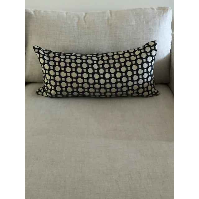 Mod Navy & Tan Textured Pillow - Image 2 of 4