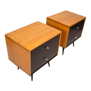 Paul McCobb Planner Group Series Solid Maple Nightstands for Winchendon For Sale