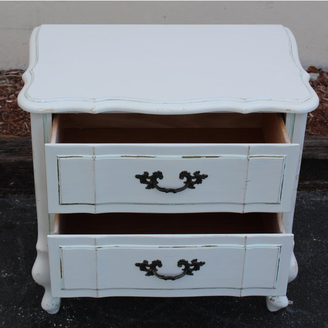 French Provincial Nightstands - A Pair - Image 6 of 7