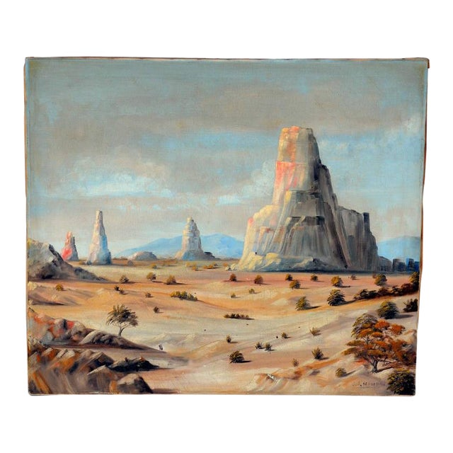 1930 Monument Valley Oil on Canvas For Sale