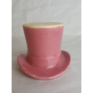 1940s Rose Pottery Top Hat Voltive holder Preview