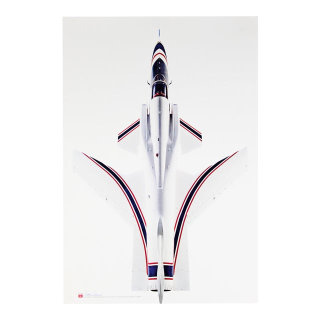 X-29 Aircraft Poster, Signed For Sale