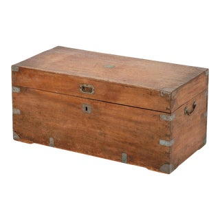 Late 19th Century Chinese Camphorwood Chest For Sale