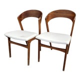 Image of Mid Century Modern A/S Randers Mobelfabrik of Denmark Dining Chairs - a Pair For Sale