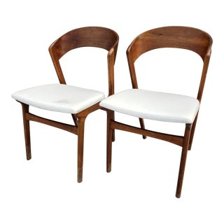 Mid Century Modern A/S Randers Mobelfabrik of Denmark Dining Chairs- a Pair For Sale