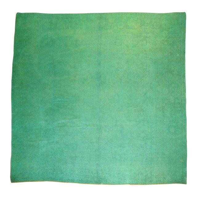 Antique Angora Wool Oushak Rug - 9' x 9'3'' - Image 1 of 4