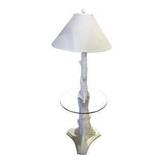 Mid Century Faux Bois Floor Lamp
