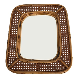 Caned Bamboo Mirror