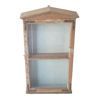 19th Century Rustic Display Cabinet For Sale
