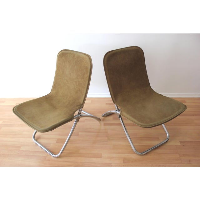 Folding Lounge Chairs - a Pair - Image 2 of 7