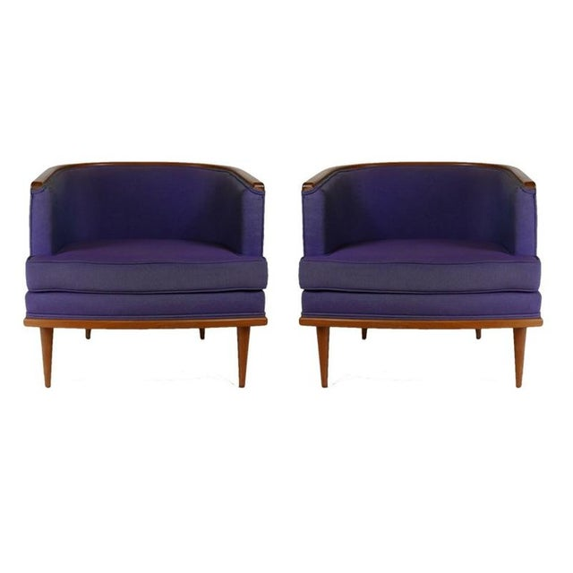 A great pair of Milo Baughman chairs in original fabric that could be used as is but certainly would benefit from new...