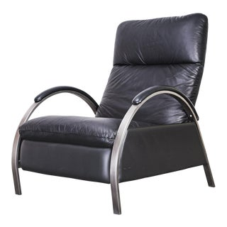 1980s Vintage George Mulhauser for Dia Leather Recliner For Sale