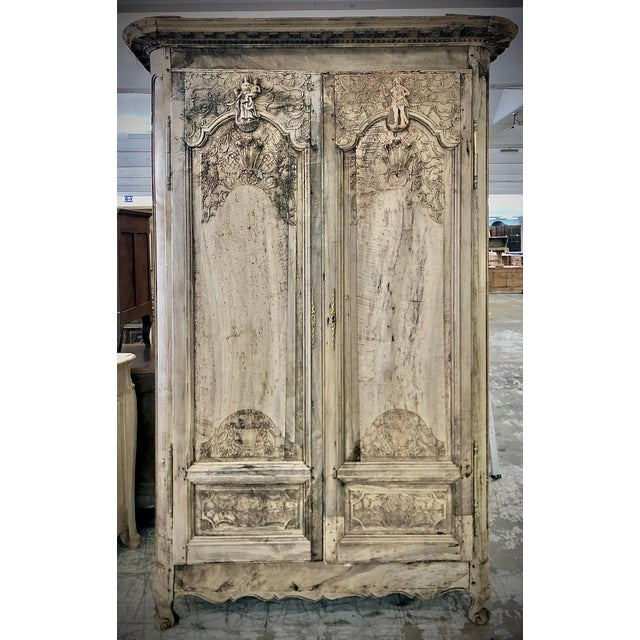 18th. C. French Renaissance Carved Armoire For Sale - Image 13 of 13