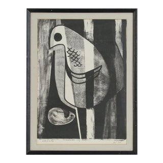 """Late 20th Century """"Birth of an Egg"""" Lithograph Print by John Tarrell Scott, Framed For Sale"""