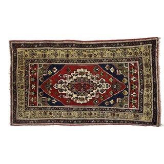 Vintage Turkish Oushak Area Rug - 04'08 X 08'01 For Sale