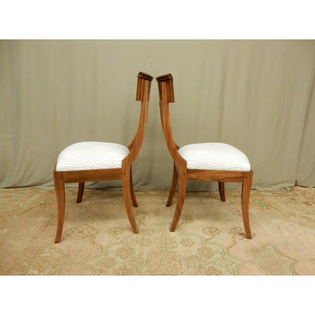 Neoclassical Pair of Neo-Classical Empire Side Chairs For Sale - Image 3 of 6