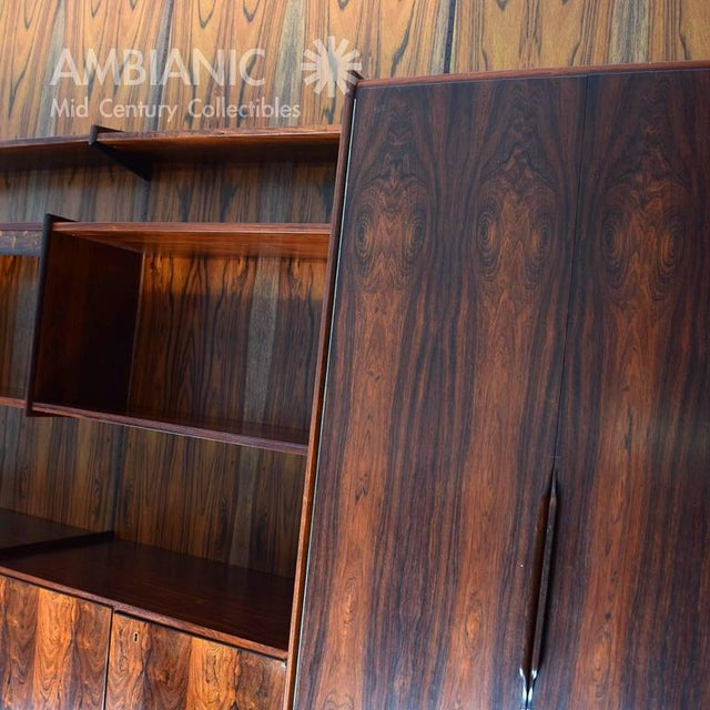 Danish Mid-Century Modern Rosewood Wall Unit For Sale - Image 9 of 10