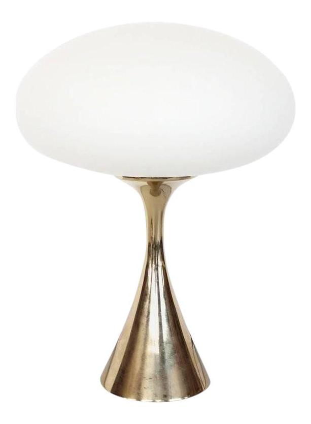 Bill Curry For Laurel Mid Century Mushroom Brass Lamp