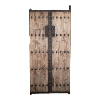 Antique Chinese Pine Doors / Gates - a Pair For Sale