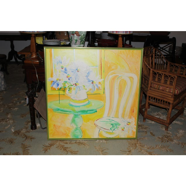 Vintage Mid-Century Yellow Still Life Painting For Sale - Image 12 of 12