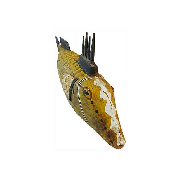 Large African Wood Fish Puppet For Sale In New York - Image 6 of 8