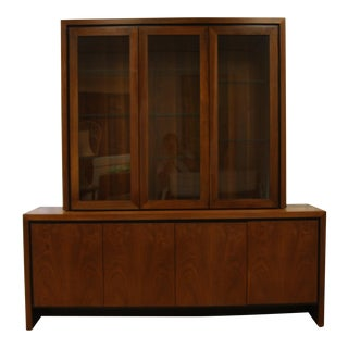 Milo Baughman for Dillingham Credenza With Hutch Top
